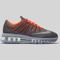 Damen & Herren - Nike Air Max 2016 (GS) Cool Grau Spiegeln Silber Total Orange
