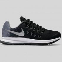 Damen & Herren - Nike Zoom Pegasus 33 (GS) Schwarz Metallisch Silber Cool Grau