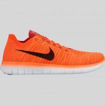 Damen & Herren - Nike Free RN Flyknit Hell Karmesinrot Schwarz Universität Rote