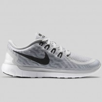 Damen & Herren - Nike Wmns Free 5.0 Rein Platinum Schwarz Wolf Grau