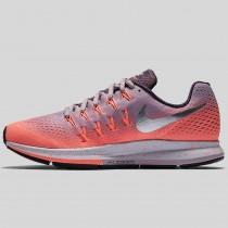 Damen & Herren - Nike Wmns Air Zoom Pegasus 33 Shield Plum Fog Metallisch Silber Hell Mango