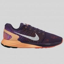 Damen & Herren - Nike Wmns Lunarglide 7 Grand lila Weiß Sunset Glühen
