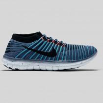 Damen & Herren - Nike Wmns Free RN Motion Flyknit Ozean Fog Schwarz Gamma Blau