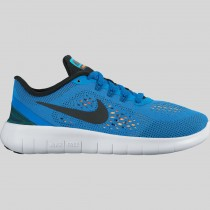 Damen & Herren - Nike Free RN (GS) Foto Blau Schwarz Total Orange