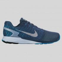 Damen & Herren - Nike Lunarglide 7 Flash Squadron Blau Spiegeln Silber