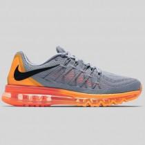 Damen & Herren - Nike Air Max 2015 Wolf Grau Schwarz Total Orange