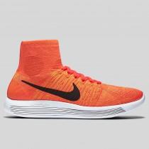 Damen & Herren - Nike Lunarepic Flyknit Total Karmesinrot Schwarz Hell Citrus
