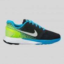 Damen & Herren - Nike Lunarglide 7 (GS) Schwarz Metallisch Silber Blau Lagune