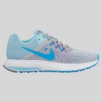Damen & Herren - Nike Wmns Zoom Winflo 2 Wolf Grau Blau Lagune Copa Fuchsia Glühen