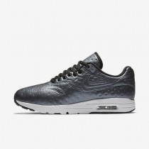 Nike Air Max 1 Ultra Premium Jacquard Sneaker - Metallischer Hämatit/Dunkelgrau/Gipfel Weiß/Schwarz