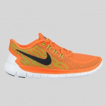 Damen & Herren - Nike Free 5.0 Total Orange Schwarz Weiß