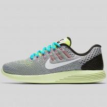 Damen & Herren - Nike Lunarglide 8 Wolf Grau Weiß Volt Gamma Blau