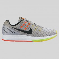 Damen & Herren - Nike Air Zoom Structure 19 Wolf Grau Schwarz Option Gelb