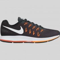 Damen & Herren - Nike Air Zoom Pegasus 33 Dunkel Grau Weiß Hell Citrus