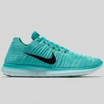 Damen & Herren - Nike Wmns Free RN Flyknit Hyper Turquoise Schwarz Volt Rio Teal