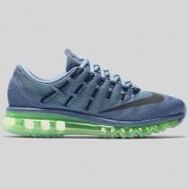 Damen & Herren - Nike Wmns Air Max 2016 Ozean Fog Schwarz Voltage Grün