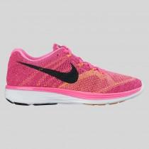 Damen & Herren - Nike Wmns Flyknit Lunar3 Pink Blast Schwarz Fireberry