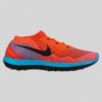 Damen & Herren - Nike Free 3.0 Flyknit Hyper Orange Schwarz Blau Lagune