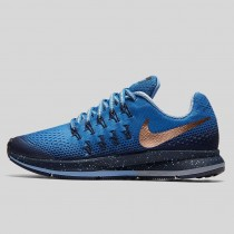 Damen & Herren - Nike Zoom Pegasus 33 Shield (GS) Star Blau Metallisch Rote Bronze