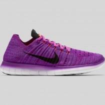 Damen & Herren - Nike Wmns Free RN Flyknit Hyper Violet Schwarz Total Karmesinrot
