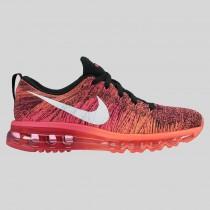 Damen & Herren - Nike Wmns Flyknit Max Schwarz Pink Foil Hot Lava
