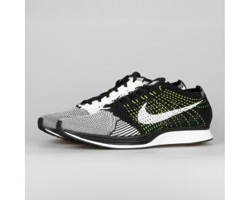 Damen & Herren - Nike Flyknit Racer Schwarz Weiß Volt