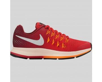 Damen & Herren - Nike Zoom Pegasus 33 (GS) Universität Rote Metallisch Silber