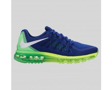 Damen & Herren - Nike Air Max 2015 tief Königlich Blau Volt Grün Strike