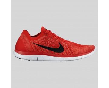 Damen & Herren - Nike Free 4.0 Flyknit Universität Rote Schwarz Hot Lava
