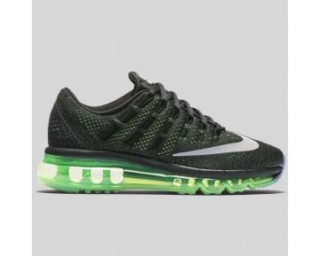 Damen & Herren - Nike Air Max 2016 (GS) Schwarz Spiegeln Silber Voltage Grün