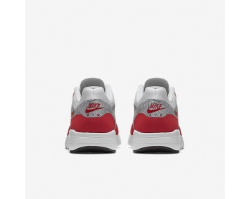 Nike Air Max 1 Ultra Flyknit Trainer - Weiß/Reines Platin/Kühles Grau/Universität Rot