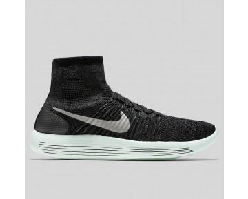 Damen & Herren - Nike Wmns Lunarepic Flyknit LB Schwarz Metallisch Pewter Barely Grün