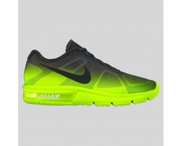 Damen & Herren - Nike Air Max Sequent Volt Schwarz Anthracite Fade