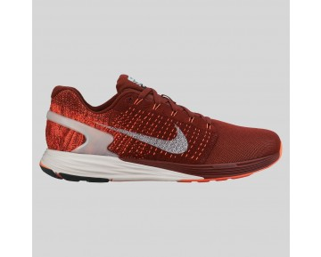 Damen & Herren - Nike Lunarglide 7 Flash Team Rote Spiegeln Silber