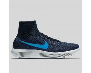 Damen & Herren - Nike Lunarepic Flyknit Schwarz Blau Glühen Star Blau