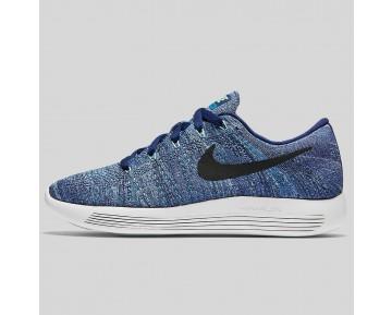Damen & Herren - Nike Wmns Lunarepic Low Flyknit Dunkel lila Staub Schwarz Star Blau