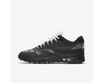 Nike Air Max 1 Ultra Flyknit Sneaker - Schwarz/Weiß/Metallisches Silber/Anthrazit