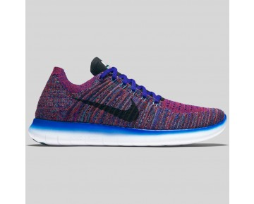 Damen & Herren - Nike Free RN Flyknit Concord Schwarz Gamma Blau