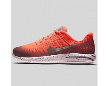 Damen & Herren - Nike Wmns Lunarglide 8 Shield Hell Mango Metallisch Silber Plam Fog