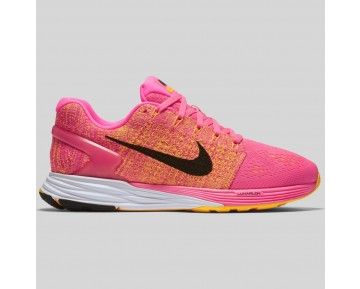 Damen & Herren - Nike Wmns Lunarglide 7 Pink Blast Schwarz Laser Orange