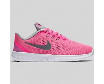 Damen & Herren - Nike Free RN (GS) Pink Blast Metallisch Silber Schwarz