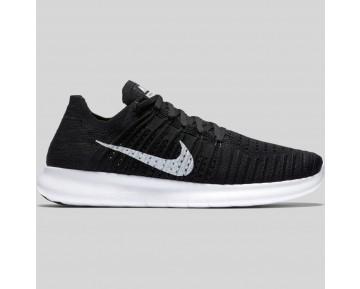 Damen & Herren - Nike Free RN Flyknit Schwarz Weiß