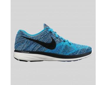 Damen & Herren - Nike Flyknit Lunar3 Blau Lagune Schwarz Spiel Königlich