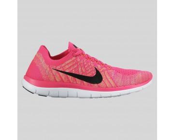 Damen & Herren - Nike Wmns Free 4.0 Flyknit Pink Foil Sunset Glühen