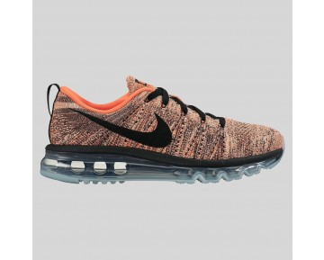 Damen & Herren - Nike Wmns Flyknit Max Schwarz Hyper Orange Sunset Glühen
