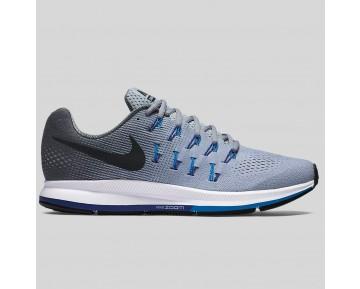 Damen & Herren - Nike Air Zoom Pegasus 33 Wolf Grau Schwarz Foto Blau
