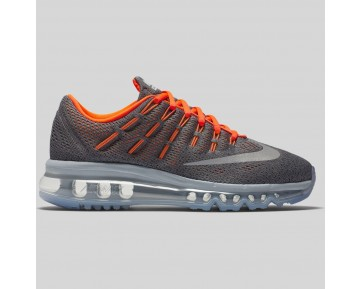Damen & Herren - Nike Air Max 2016 (GS) Cool Grau Spiegeln Silber Total Orange