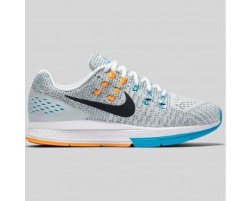 Damen & Herren - Nike Wmns Air Zoom Structure 19 Weiß Laser Orange Gamma Blau
