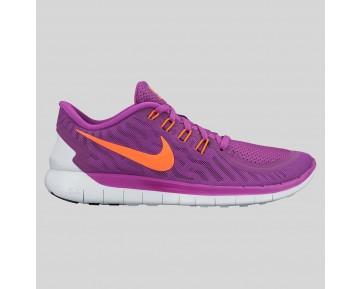 Damen & Herren - Nike Wmns Free 5.0 Vivid lila Hyper Orange Weiß