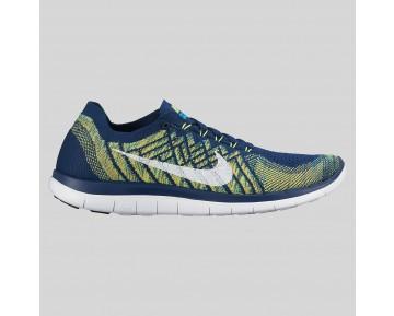 Damen & Herren - Nike Free 4.0 Flyknit Brave Blau Weiß Schwarz Volt